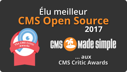 CMS Made Simple élu meilleur CMS Open Source 2017